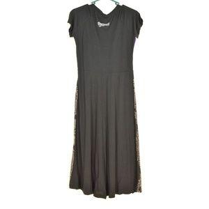 Desigual Dresses - Desigual dress SZ S black brown blue fit top flare